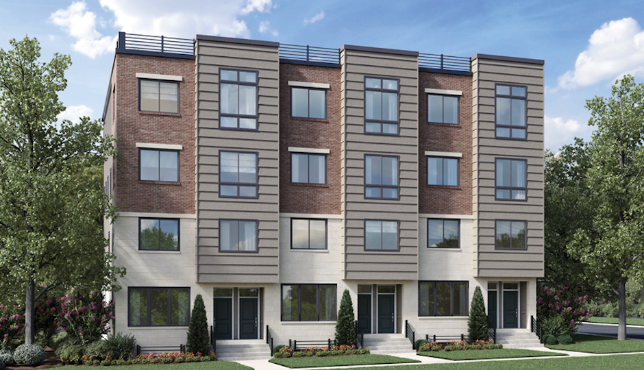 So they're wood, stucco and brick rather than brown stone, but the Brownstones at the Village at Valley Forge will let homeowners stake a claim on the new, more walkable King of Prussia. | Rendering courtesy Toll Brothers
