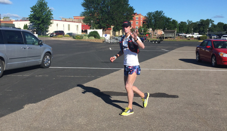 Michael Gibino is running from MN to PA. | Photo via Facebook