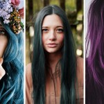 jewel-tones hair tips