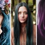 jewel-tones hair tips