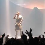 Kanye West performing in 2013