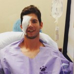Matt Imhof - instagram - eye injury