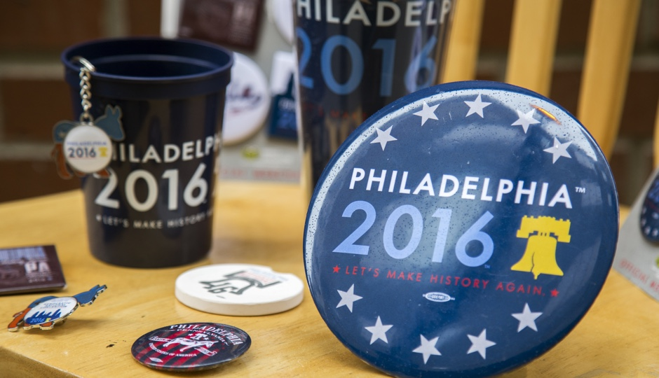 Merchandise designed for the 2016 Democratic National Convention.