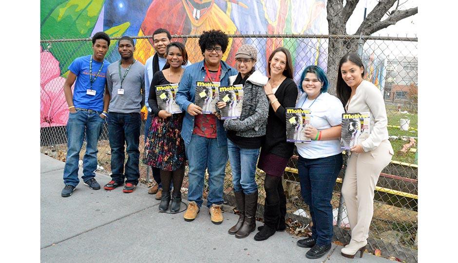 The Motivos teams at Taller Puertorriqueño's Meet the Author series. Courtesy of Jenée Chizick-Agüero