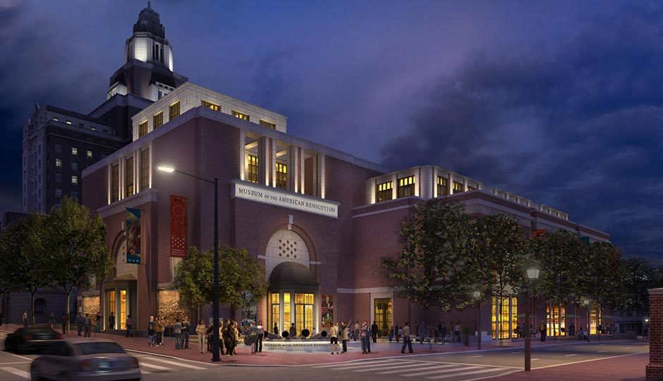 Museum of the American Revolution rendering at night