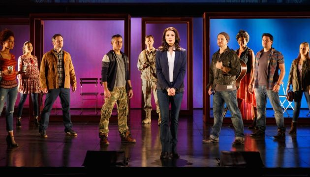 Jackie Burns and the cast of If/Then, now at the Academy of Music.