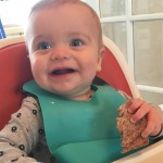 Picky-Eater Toddler Tips: Noah eating his food happily.