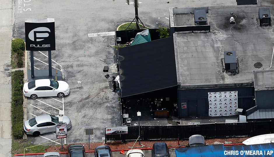 Pulse nightclub following a fatal shooting Sunday, June 12, 2016, in Orlando, Fla.