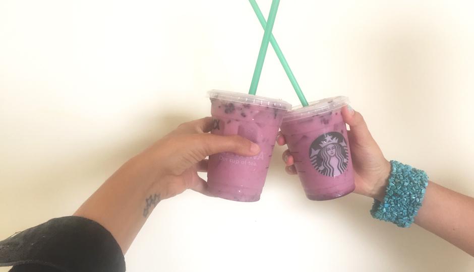 Two secret purple drinks from Starbucks.
