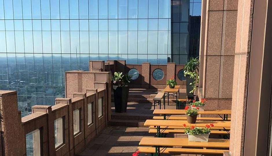 Sky Garten will be open tonight and serving