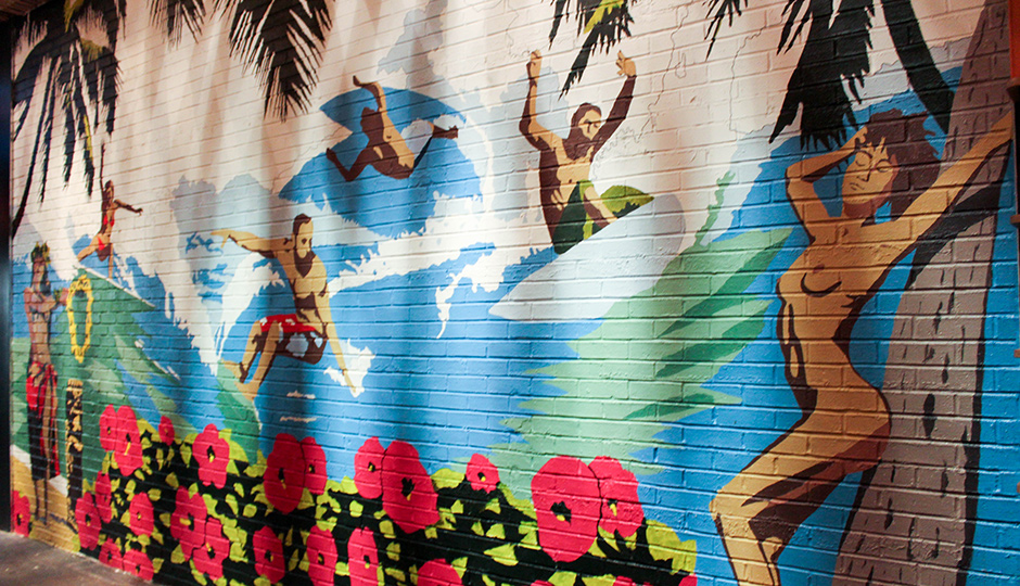Mural at Tiki | All photos by Chelsea Portner