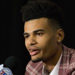 Timothe Luwawu was selected by the Philadelphia 76ers with the 24th pick in Thursday's NBA draft | Bill Streicher-USA TODAY Sports