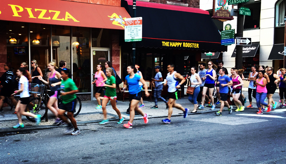 Pop-Up Training Run for the Philly 10K 2015 | Photo by Adjua Fisher