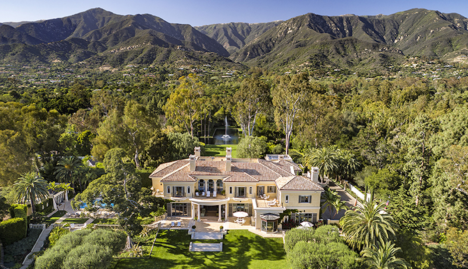 The late Ed Snider's palatial retreat in Montecito, Calif. | Photos: Jim Bartsch via Susan Burns