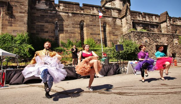 The Bearded Ladies cabaret troupe will put on a free Bastille Day show at Eastern State Penitentiary. Photo by Darryl Moran
