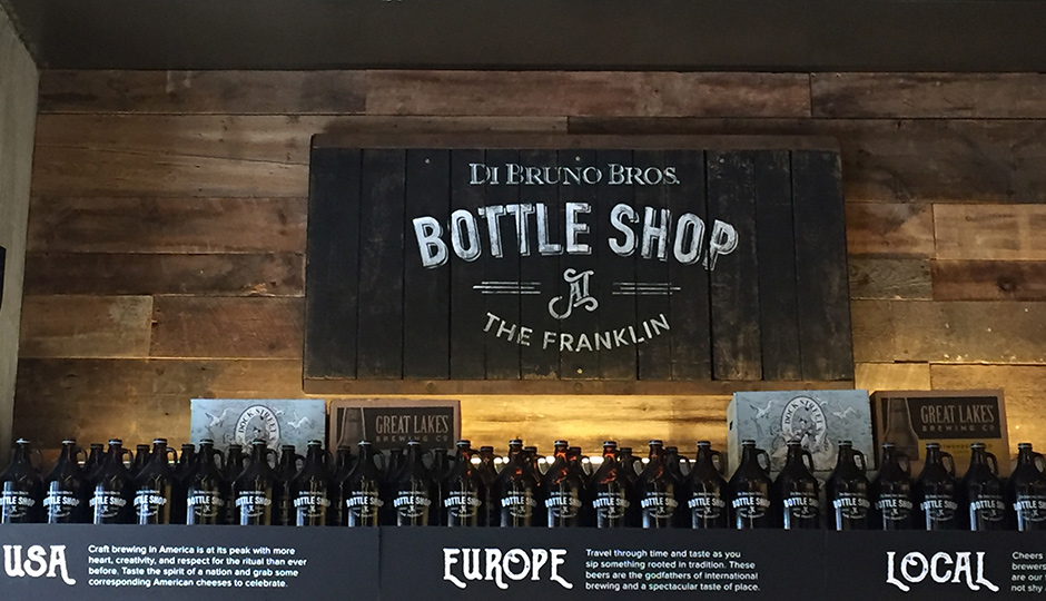 The Bottle Shop at Di Bruno Bros. Franklin location is set to offer wine.