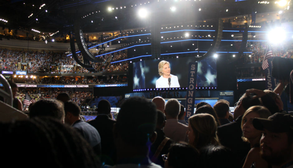 Hillary Clinton at the DNC   Photo by Jared Brey