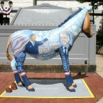 DNC Donkey, decorated by Food & Water Watch | Photo by Jared Brey