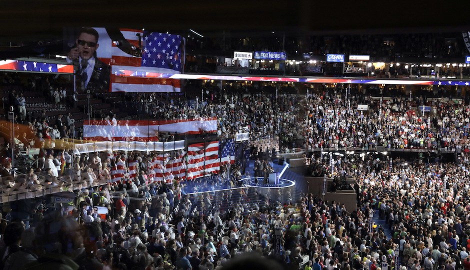 The Democratic National Convention in Philadelphia.   Photo by John Locher/AP
