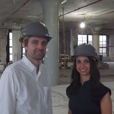 BCJ Principal Tom Kirk and Marketing Director Vanessa Stella