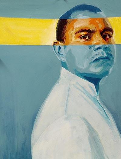 Juan Carlos. Painting by Michelle Angela Ortiz