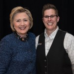 Kelly Burkhardt with Hillary Clinton.