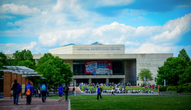 Tour the National Constitution Center during PoliticalFest. Photo by J. Fusco for Visit Philadelphia