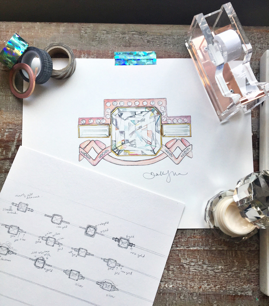 The evolution of local fashion illustrator Dallas Shaw's ring collaboration with jewelry designer Jennifer Dawes. Photography in this post by Alison Conklin.