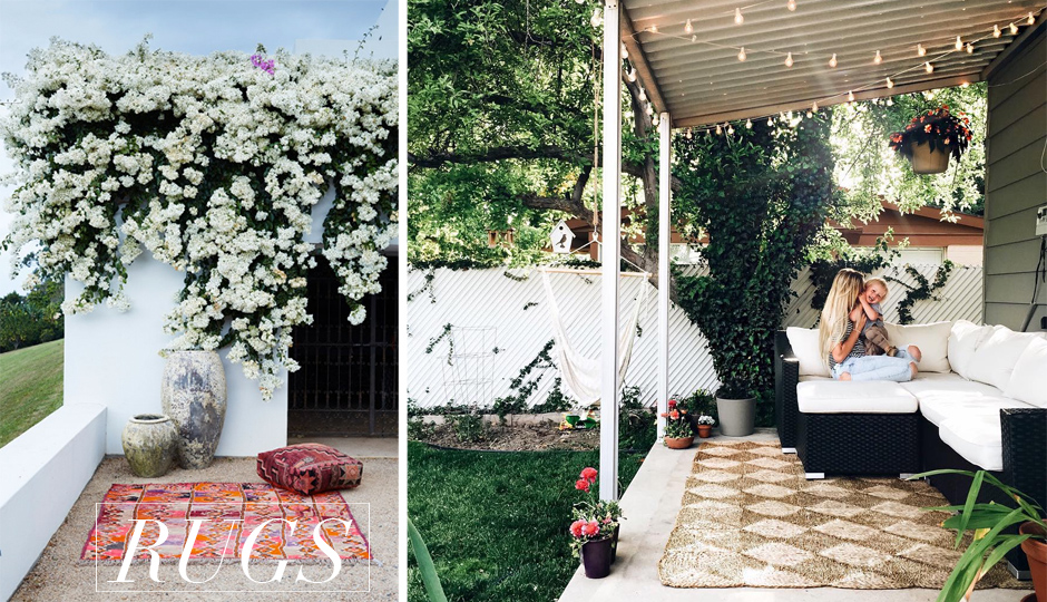 STEP UP YOUR PATIO GAME RUGS