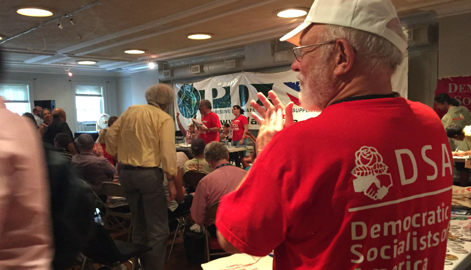 Democratic Socialist Caucus at William Way LGBT Community Center   Photo by Jared Brey