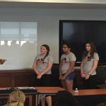 Participants in TechGirlz' 2016 entrepreneurship bootcamp present business plans at Villanova University. Photo by Maria McGeary.