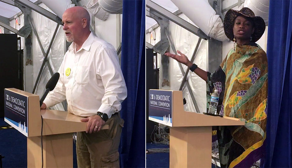 Victor Tiffany, Yahne Ndgo speak in support of Jill Stein at the 2016 DNC