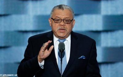 Former Philadelphia Police Commissioner Charles Ramsey speaks during the third day of the Democratic National Convention in Philadelphia , Wednesday, July 27, 2016.