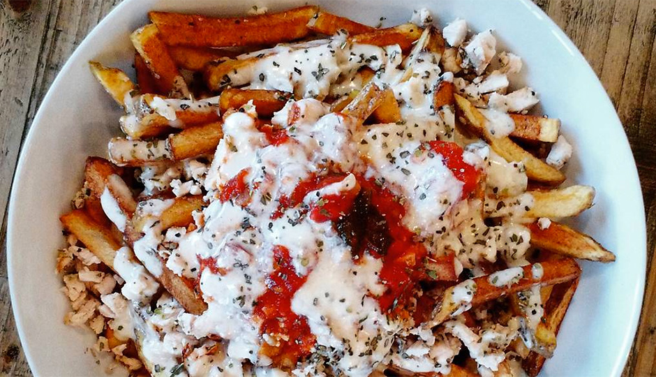 Chicken Parmesan French Fries at Blue Duck