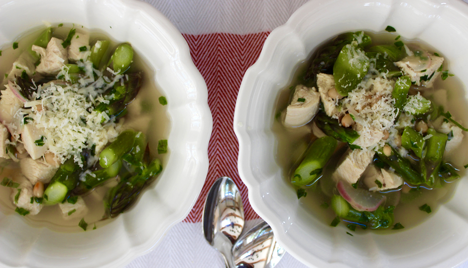 Protein-Packed Chicken and Asparagus Summer Soup | Photo by Becca Boyd