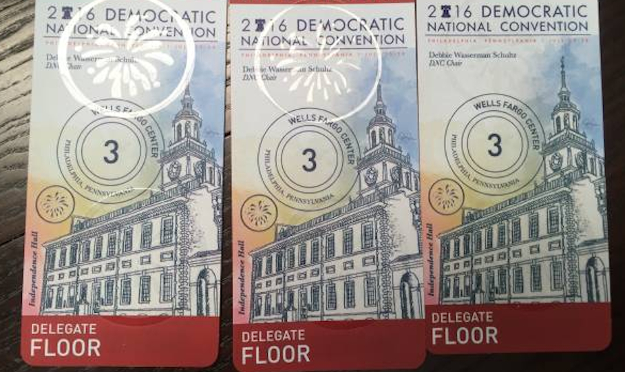 Delegate DNC credentials for Wednesday night that were sold.