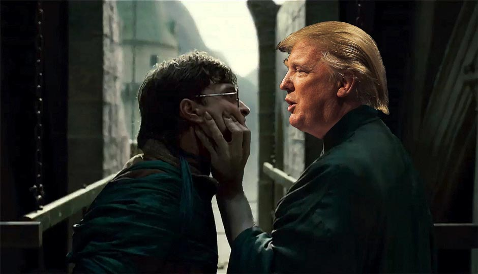 Penn study reading harry potter makes you less likely to vote for harry potter vs voldemort but with donald trump instead of voldemort stopboris Images