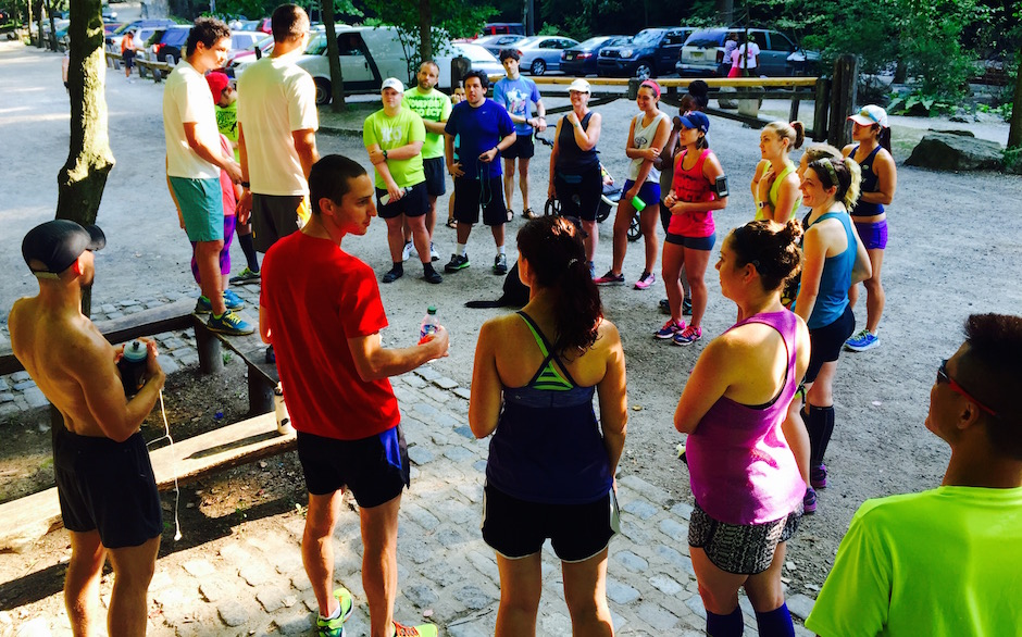 The Chasing Trail running group meeting at meeting at Valley Green Inn.   Photo Courtesy of Wesley Celestino