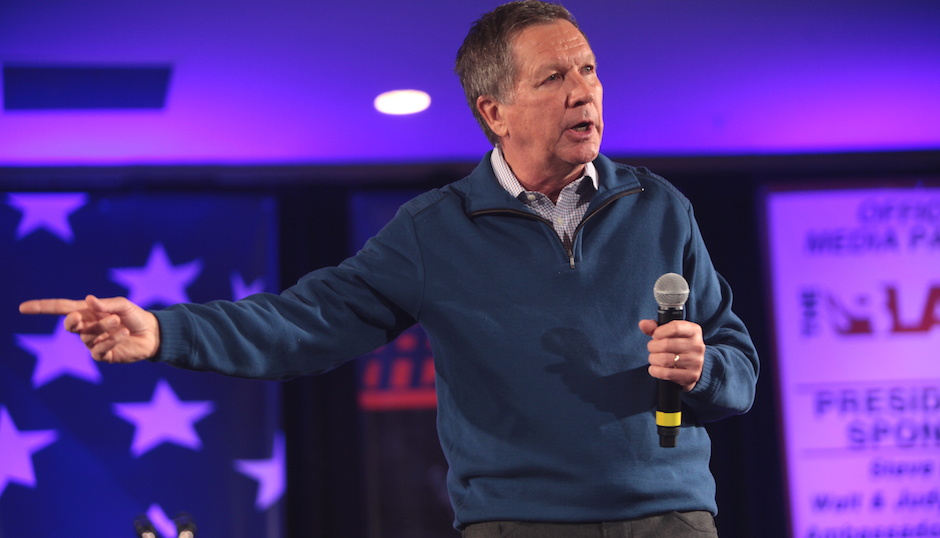 Ohio Governor John Kasich at a January 2016 event. Photo by Gage Skidmore via Wikimedia Commons.