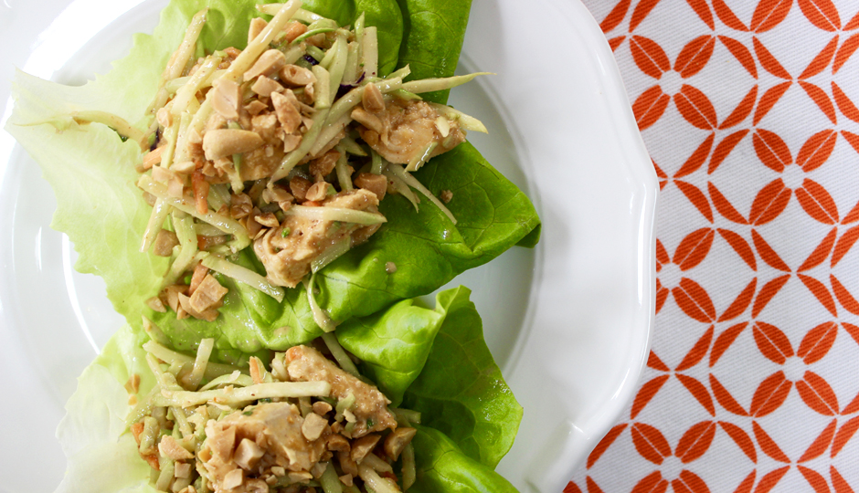 Peanut Chicken Lettuce Wraps | Photo by Becca Boyd