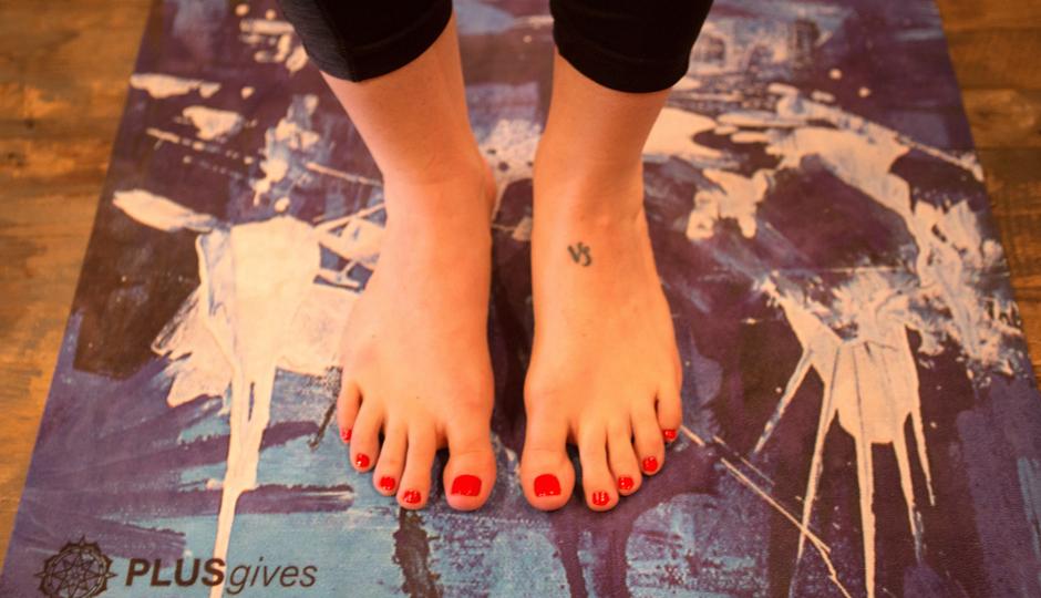 PLUSgives yoga mat designed by Alloyius McIlwain | Photo courtesy PLUSgives.