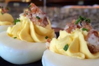 Porkroll egg and cheese deviled eggs at Taproom on 19th