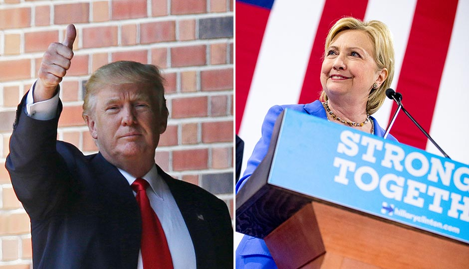 Donald Trump. Photo | Michael Conroy, AP. Hillary Clinton. Photo | Andrew Harnik, AP
