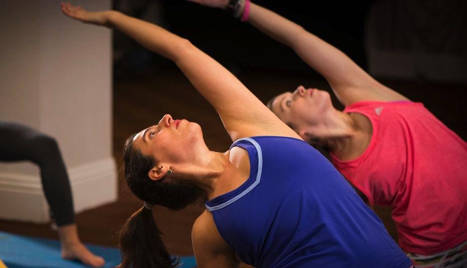 Yoga at Hotel Monaco | Photo via Paul Gelsobello