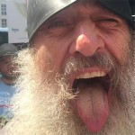 Vermin Supreme gives his stump speech at a Bernie Sanders protest