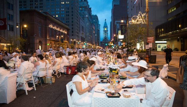 In 2014, Diner en Blanc Philadelphia was on the Avenue of the Arts. Photo by Johanna Austin