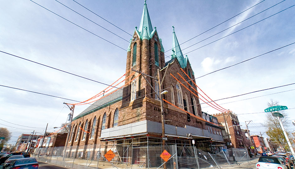 Saint Laurentius Church in Fishtown. | Photograph by Bradley Maule