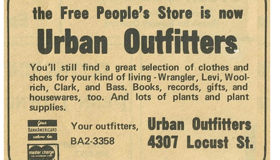 An early ad for Urban Outfitters | Photograph courtesy of Urban Outfitters