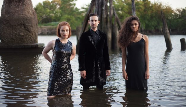 Kelly Filios, Joshua Tewell and Aneesa Neibauer are in Bodas de Sangre/I Only Came to Use the Phone. Photo by Rosie Simmons