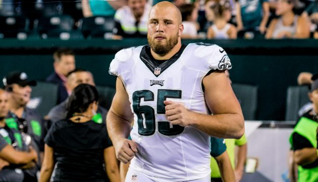 Lane Johnson. (Jeff Fusco)